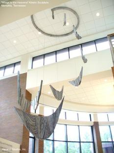 """Wings to the Heavens"" Kinetic Mobile Sculpture by David Ascalon, Ascalon Studios."
